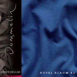 Dommelin hoeslaken Jersey Royal Blauw