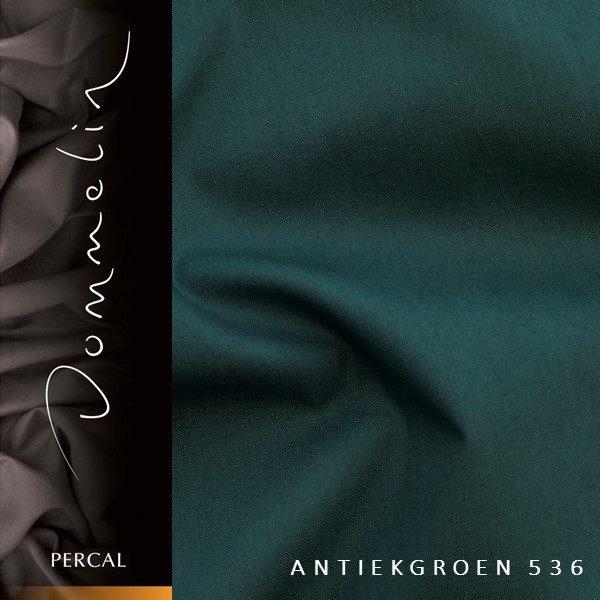 Dommelin hoeslaken Percal TC200 Antiekgroen