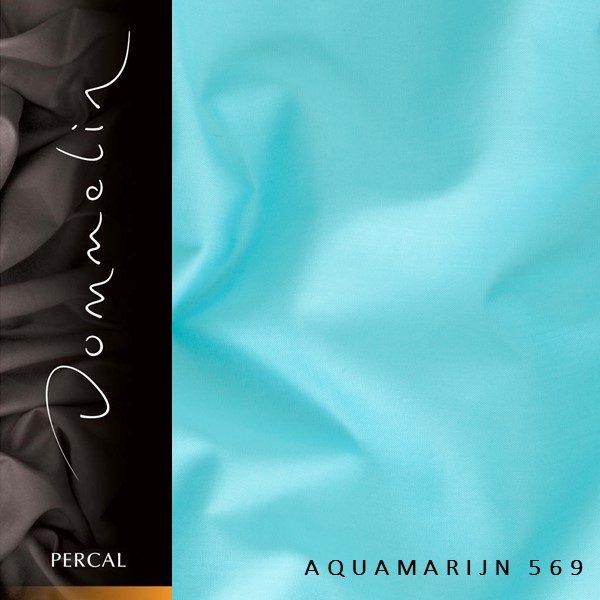 Dommelin hoeslaken Percal TC200 Aquamarijn