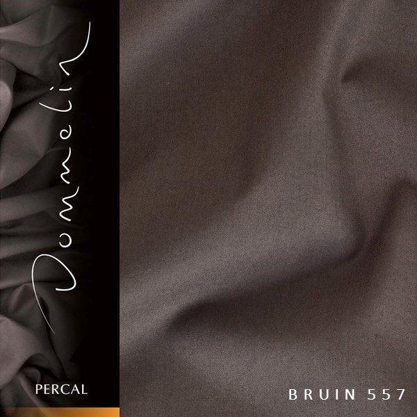 Dommelin hoeslaken Percal TC200 Bruin