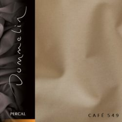 Dommelin hoeslaken Percal TC200 Café