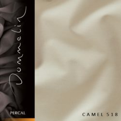 Dommelin hoeslaken Percal TC200 Camel