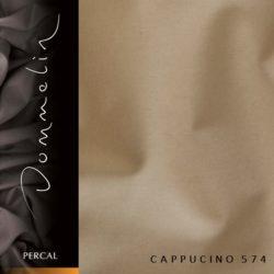 Dommelin hoeslaken Percal TC200 Cappucino