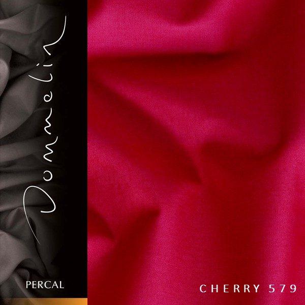 Dommelin hoeslaken Percal TC200 Cherry