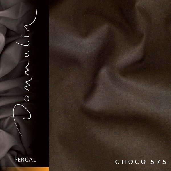 Dommelin hoeslaken Percal TC200 Choco