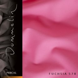 Dommelin hoeslaken Percal TC200 Fuchsia
