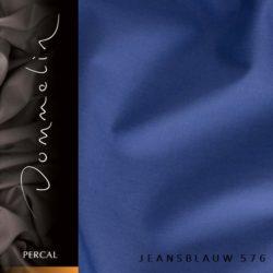 Dommelin hoeslaken Percal TC200 Jeansblauw