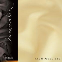 Dommelin hoeslaken Percal TC200 Lichtgeel