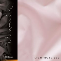 Dommelin hoeslaken Percal TC200 Lichtroze