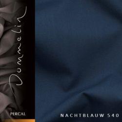 Dommelin hoeslaken Percal TC200 Nachtblauw