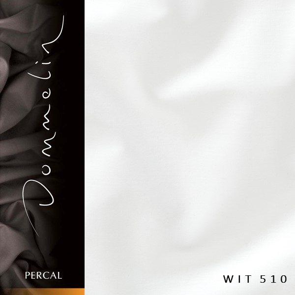 Dommelin hoeslaken Percal TC200 Wit