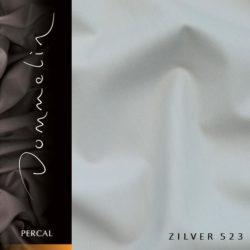 Dommelin hoeslaken Percal TC200 Zilver